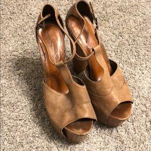 Jessica Simpson platform/ Sandal heels